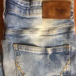"PEPE LONDON Men/'s Comfort Fit Straight Leg One Wash Denim Jeans 34/"" ALBAN"